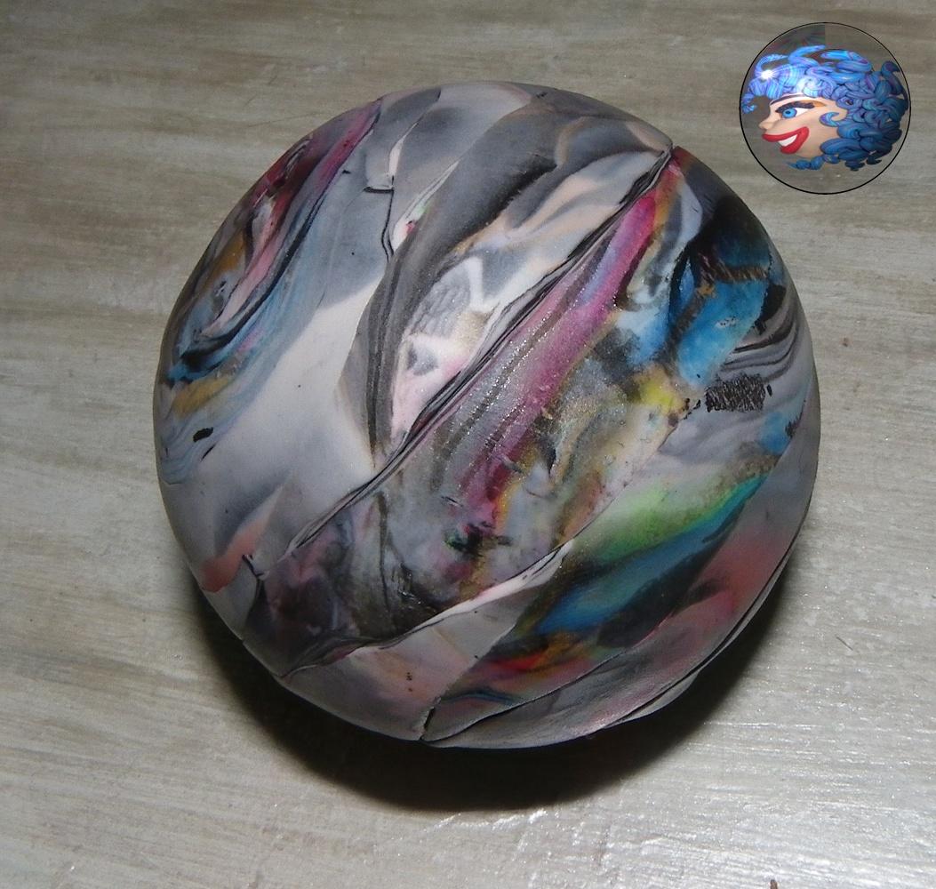 Tuto boule de no l 2 la m duse du fium 39 orbu for Decoration boule de noel en polystyrene