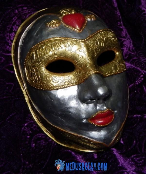 Masque tout-fimo st valentin au carnaval de venise